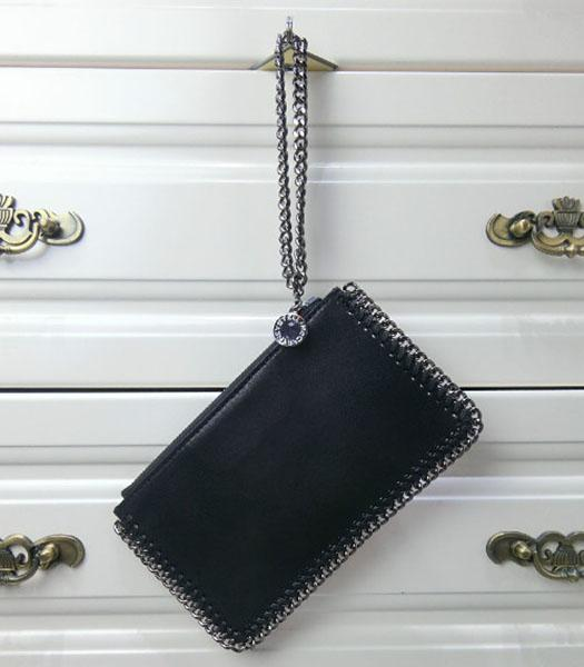 Stella McCartney Falabella PVC Black Purse S-898 Silver Chain