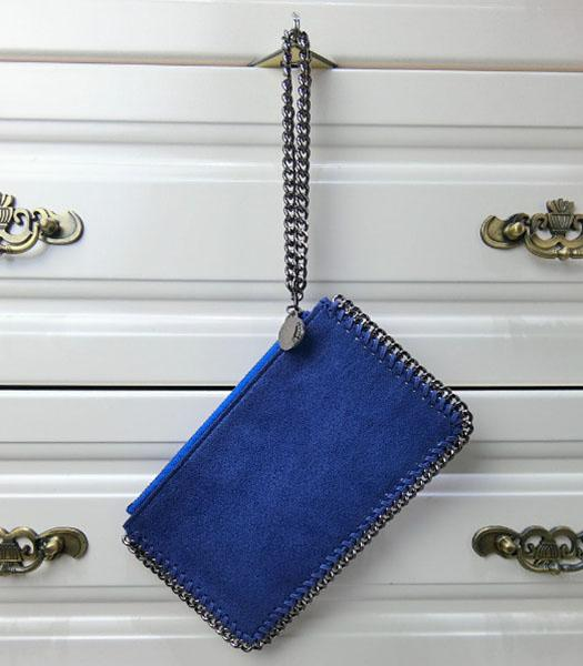 Stella McCartney Falabella PVC Sapphire Blue Purse S-898 Silver Chain