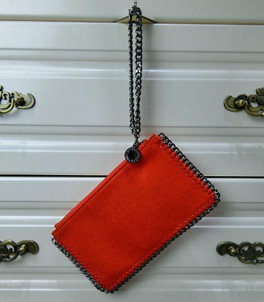 Stella McCartney Falabella PVC Red Purse S-898 Silver Chain