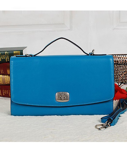 Coach 23561 Pinnacle Calfskin Leather Crossbody Bag Blue