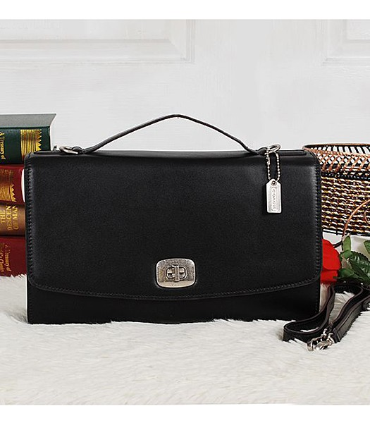 Coach 23561 Pinnacle Calfskin Leather Crossbody Bag Black