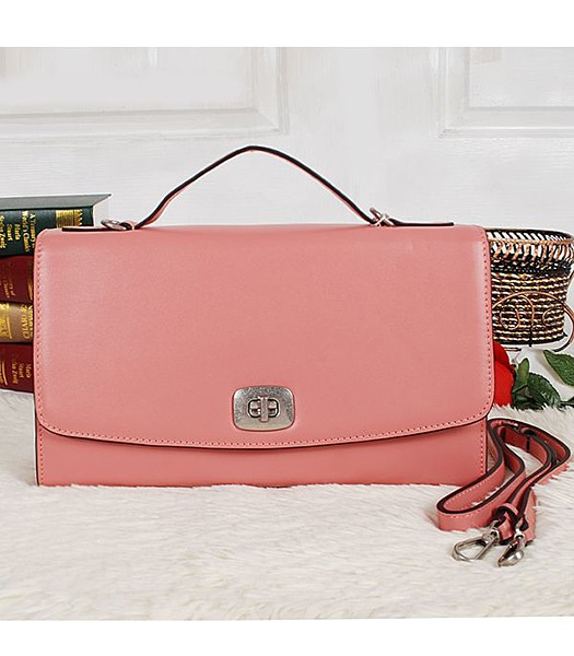 Coach 23561 Pinnacle Calfskin Leather Crossbody Bag Peach Red