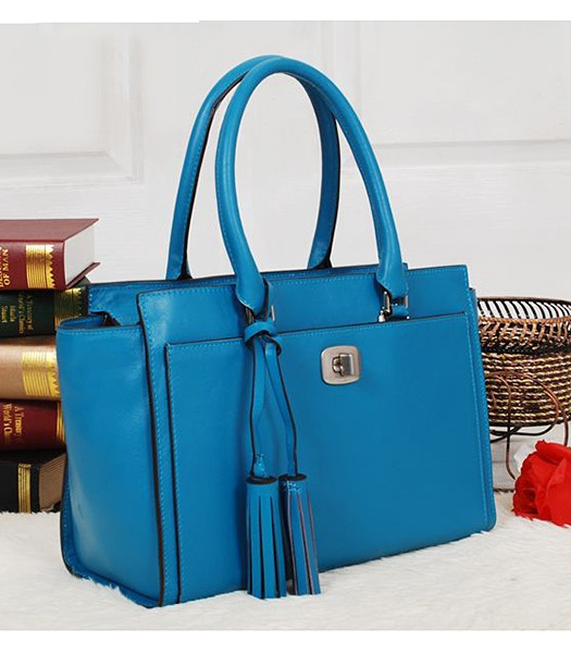 Coach 25359 Legacy Leather Chelsea Carryall Tote Bag Blue