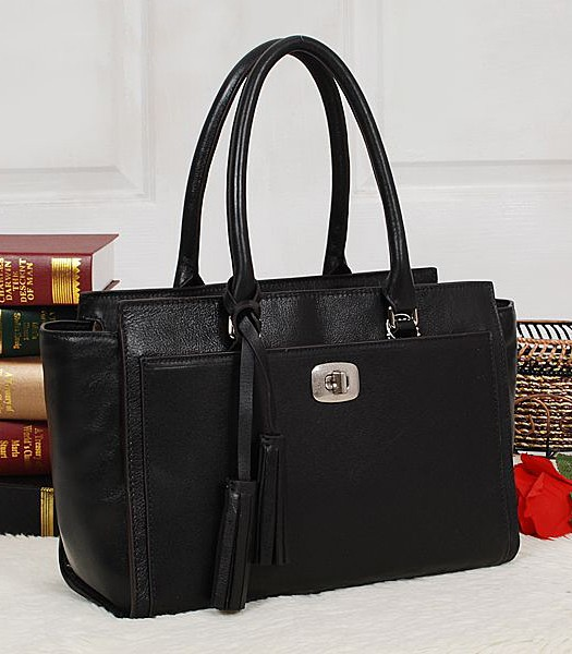 Coach 25359 Legacy Leather Chelsea Carryall Tote Bag Black
