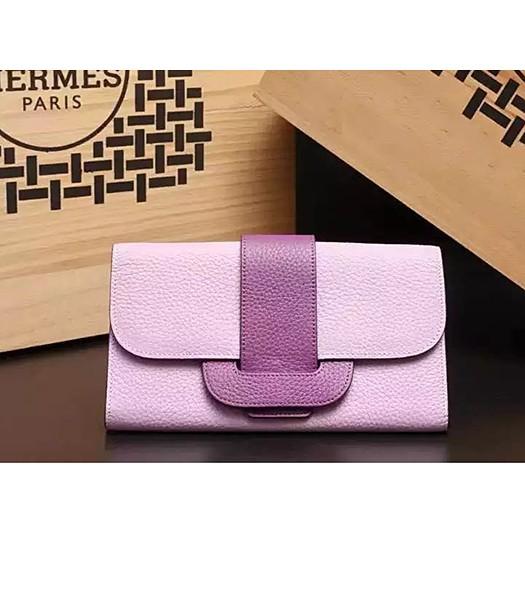 Hermes Latest Design Leather Fashion Clutch Pink