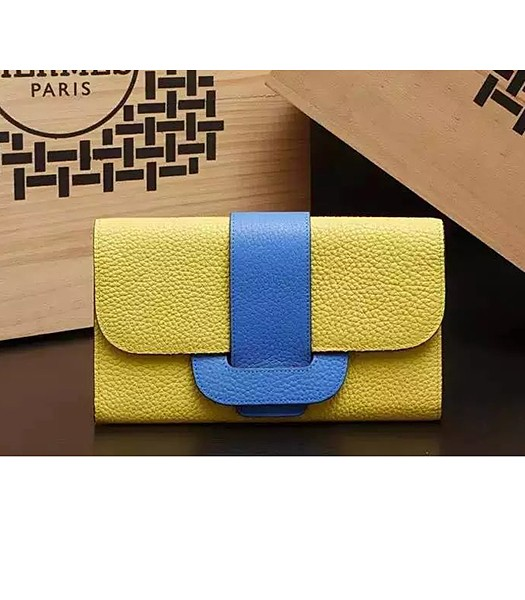 Hermes Latest Design Leather Fashion Clutch Yellow