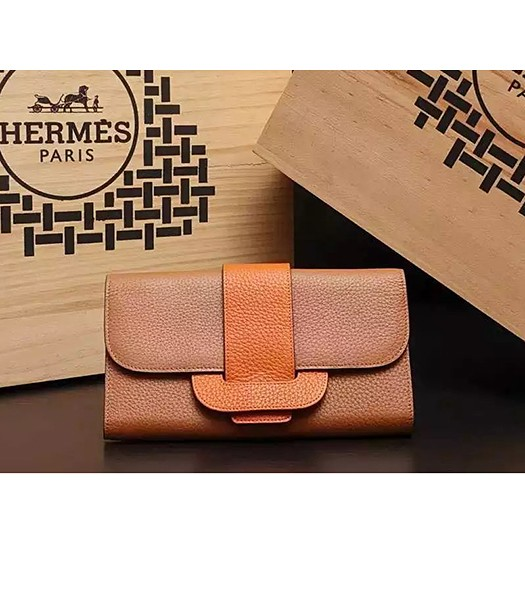 Hermes Latest Design Leather Fashion Clutch Earth Yellow