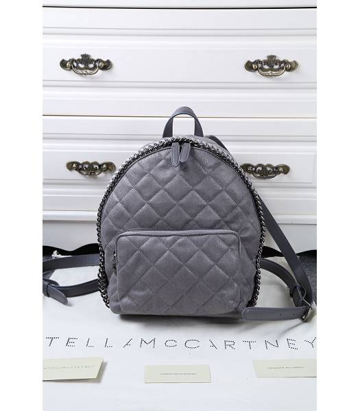 Stella McCartney Latest Design Small Quilted Backpack Deep Grey