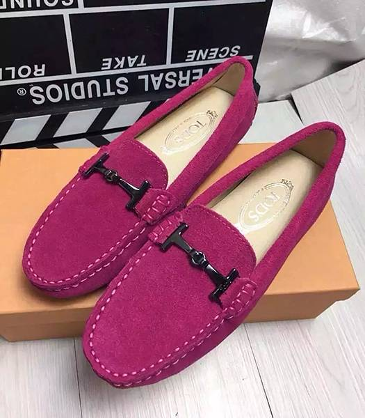 Tod's Suede Leather Doug Rose Red Shoes