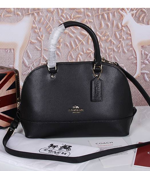 Coach 37233 Sierra Satchel Black Leather Tote Bag