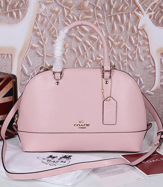 Coach 37233 Sierra Satchel Pink Leather Tote Bag
