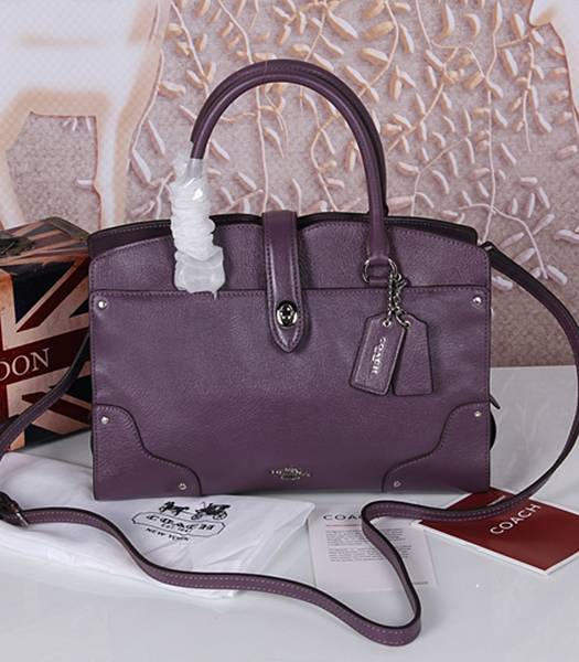 Coach 37575 Mercer Satchel Top Handle Bag Purple
