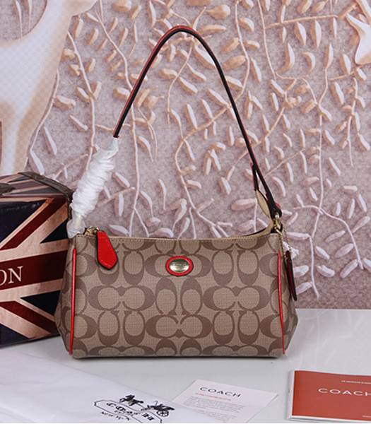 Coach 51175 Peyton Signature Top Handle Bag Red
