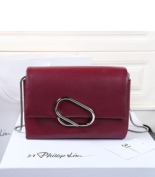 3.1 Phillip Lim Wine Red Leather Small Alix Flap Bag