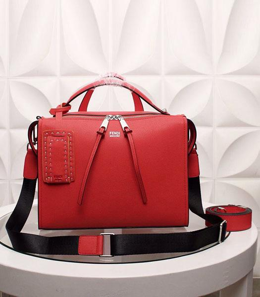 Fendi By The Way Red Leather Top Handle Bag