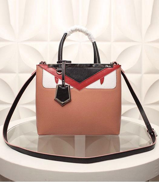 Fendi Hot-sale Monster Nude Pink Leather Top Handle Bag