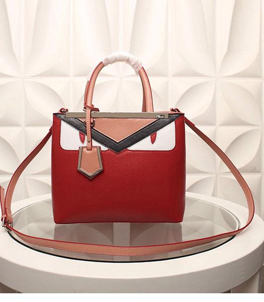 Fendi Hot-sale Monster Red Leather Top Handle Bag