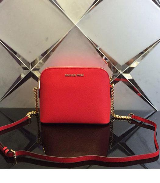 Michael Kors Red Leather Small Shoulder Bag