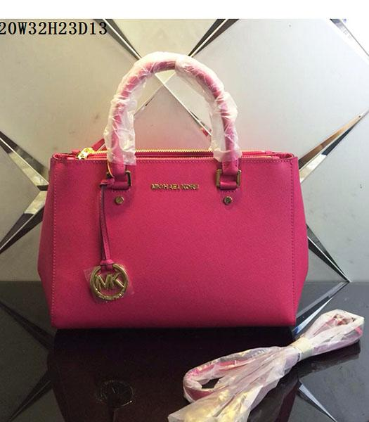 Michael Kors Latest Design Rose Red Leather Tote Bag