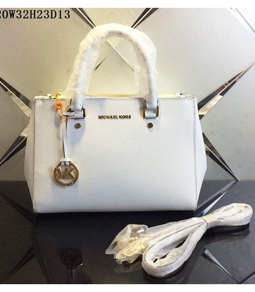 Michael Kors Latest Design White Leather Tote Bag
