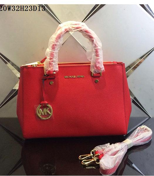 Michael Kors Latest Design Red Leather Tote Bag
