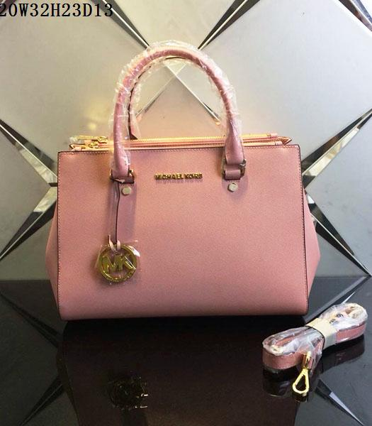 Michael Kors Latest Design Cherry Pink Leather Tote Bag