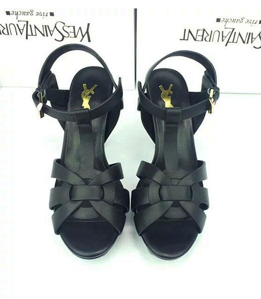Yves Saint Laurent Calfskin Leather 10cm High Heel Shoes In Black