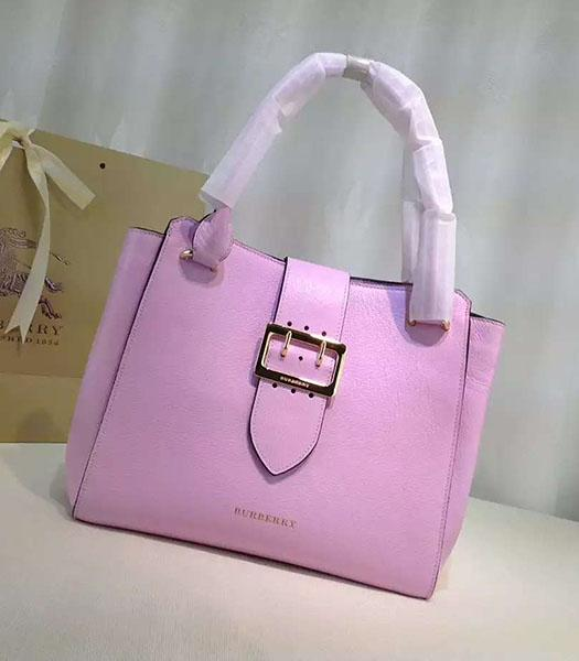 Burberry Original Calfskin Leather The Buckle Tote Bag Pink