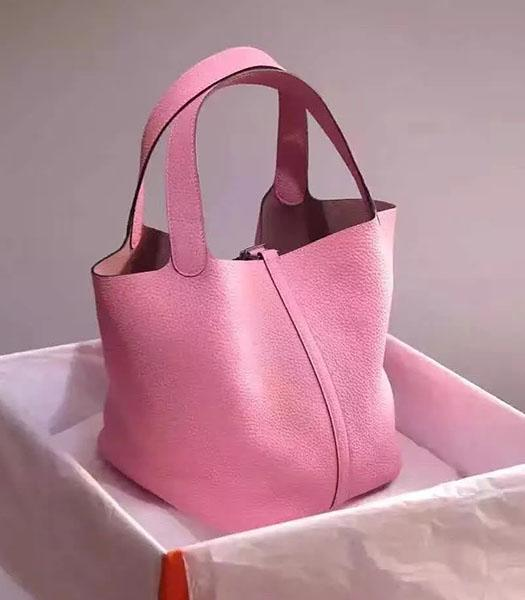 Hermes Picotin Lock Pink Imported Original Leather Small Shoulder Bag