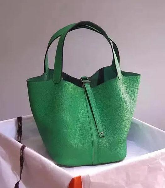 Hermes Picotin Lock Green Imported Original Leather Small Shoulder Bag