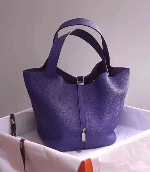 Hermes Picotin Lock Violet Imported Original Leather Small Shoulder Bag