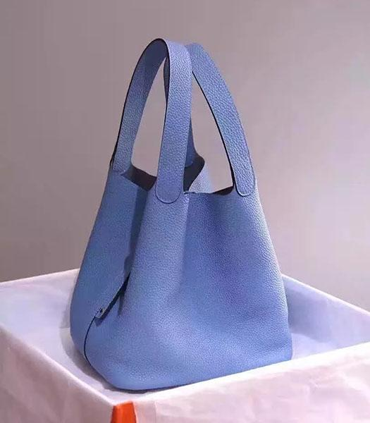 Hermes Picotin Lock Blue Imported Original Leather Small Shoulder Bag