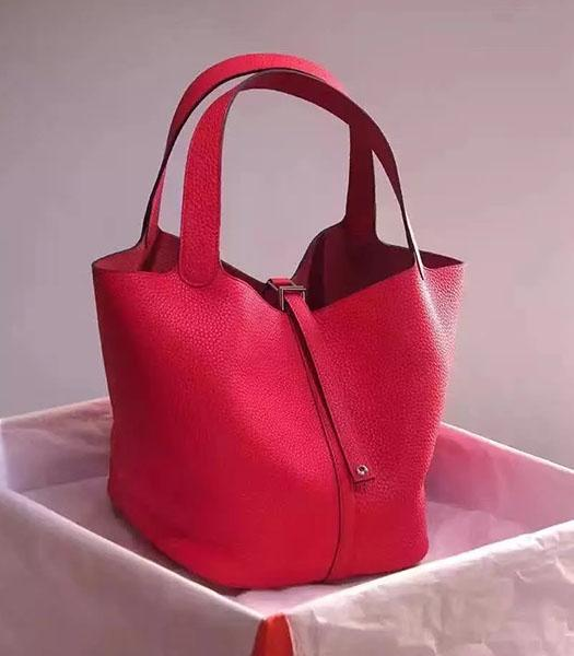 Hermes Picotin Lock Red Imported Original Leather Small Shoulder Bag