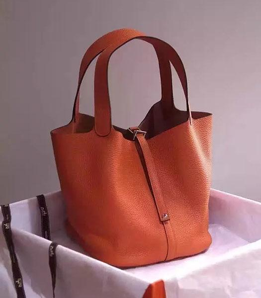 Hermes Picotin Lock Orange Imported Original Leather Small Shoulder Bag