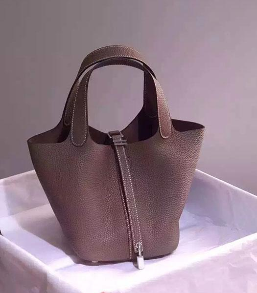 Hermes Picotin Lock Coffee Imported Original Leather Small Shoulder Bag