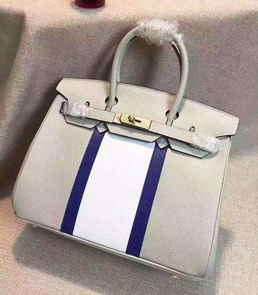 Hermes Birkin 30cm Grey Togo Leather Top Handle Bag