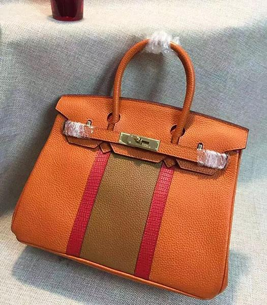Hermes Birkin 30cm Orange Togo Leather Top Handle Bag