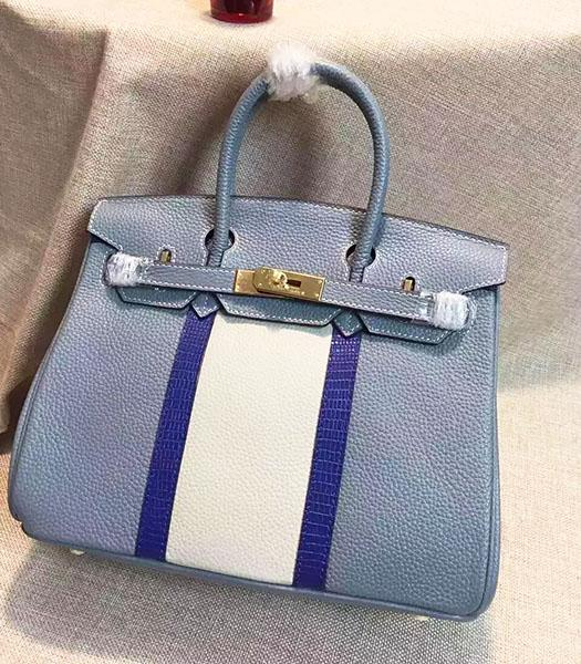 Hermes Birkin 30cm Light Blue Togo Leather Top Handle Bag