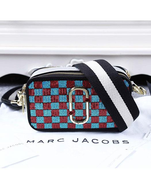 Marc Jacobs Red&Blue Sequins Small Leather Shoulder Bag