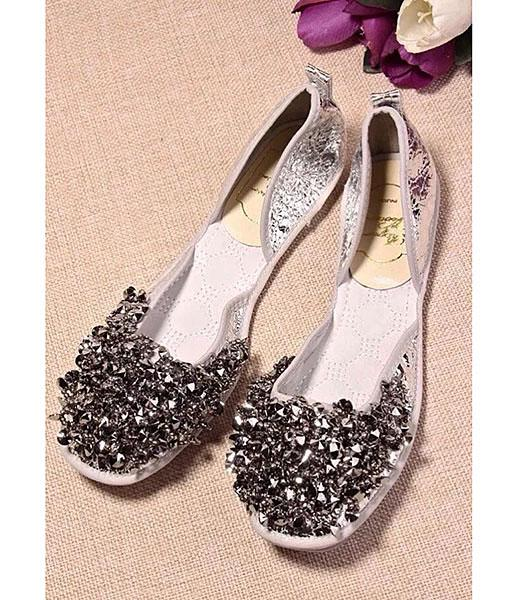 Roger Vivier Dancing Shoes In Color Silver