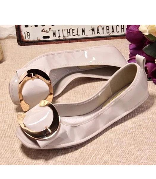Roger Vivier Patent Leather Dancing Shoes In White