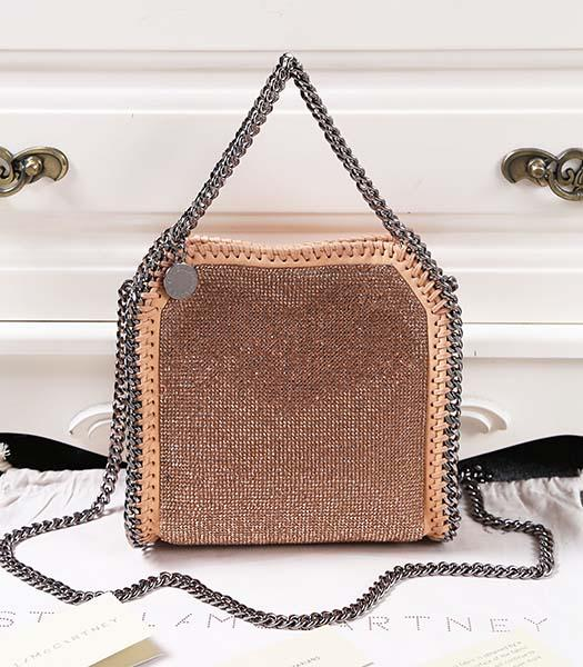 Stella McCartney Falabella Diamonds Small Khaki Shoulder Bag Silver Chain