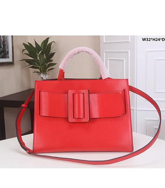 Boyy 32cm Red Original Epi Leather Buckle Belt Tote Bag