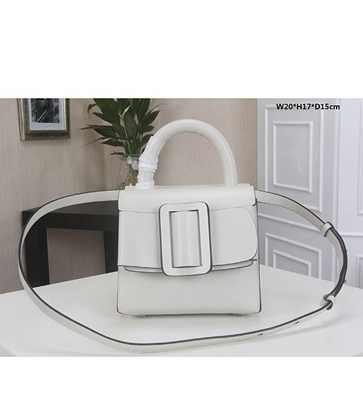 Boyy 20cm White Original Epi Leather Buckle Belt Small Tote Bag