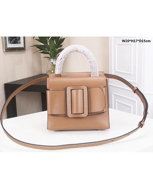 Boyy 20cm Khaki Original Epi Leather Buckle Belt Small Tote Bag