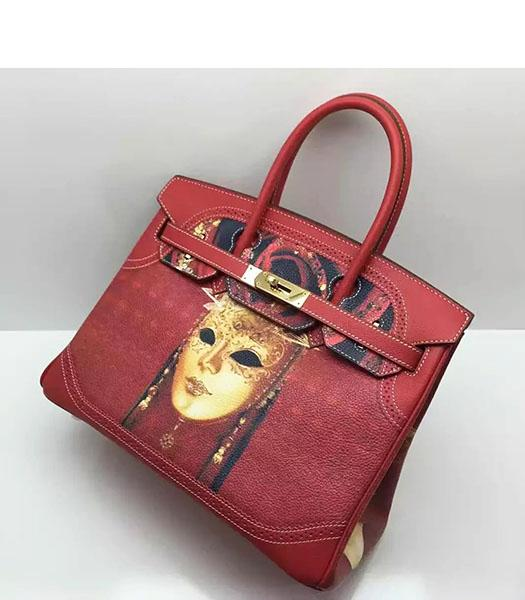 Hermes Birkin 30cm Red Original Leather Lace Top Handle Bag