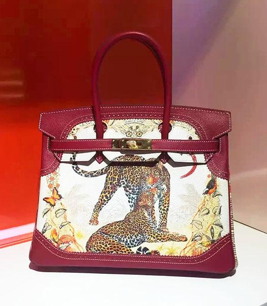 Hermes Birkin 30cm Wine Red Original Leather Lace Top Handle Bag