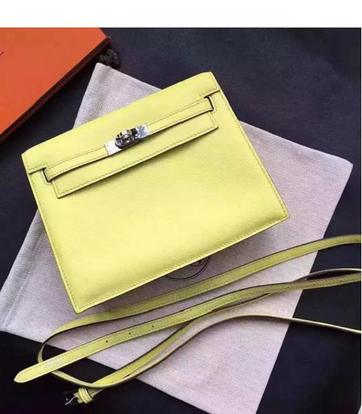 Hermes Kelly Original Swift Leather Shoulder Bag Yellow