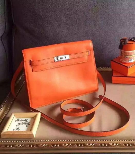 Hermes Kelly Original Swift Leather Shoulder Bag Orange