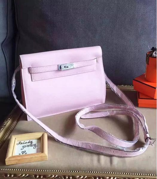 Hermes Kelly Original Swift Leather Shoulder Bag Pink